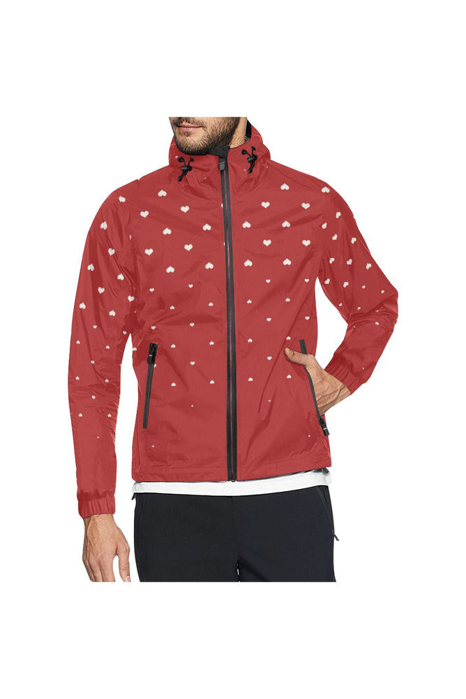 Rising Hearts All Over Print Windbreaker for Men