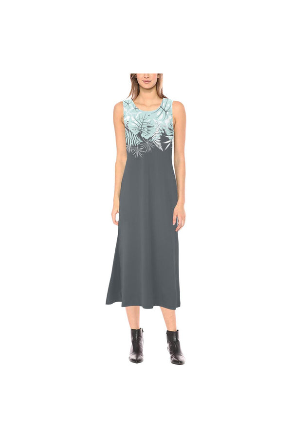 Gathered Meadow Phaedra Sleeveless Open Fork Long Dress