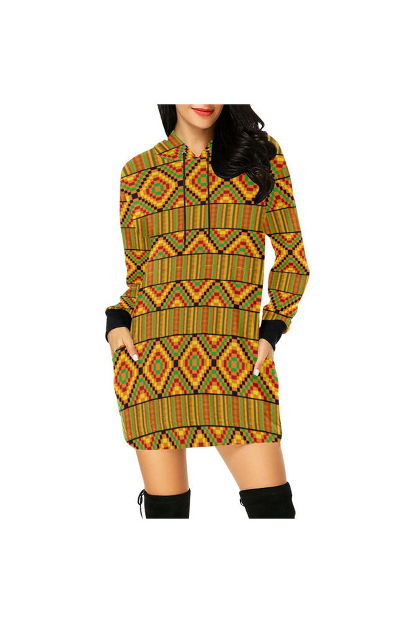Karma Kente  Hoodie Mini Dress