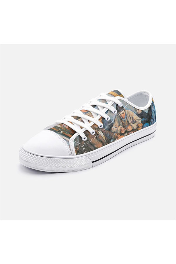The Card Players Unisex Low Top Canvas Shoes