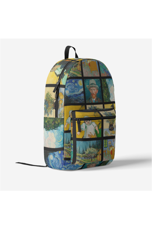 Van Gogh Expo Retro Colorful Print Trendy Backpack