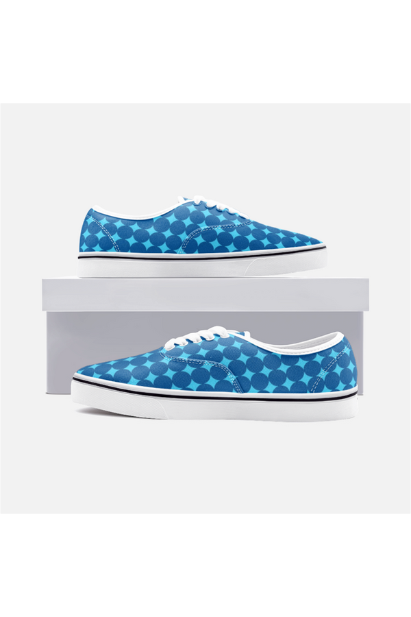 Bauhaus Blue Unisex Canvas Shoes