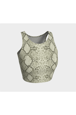 Snake Skin Print Athletic Top
