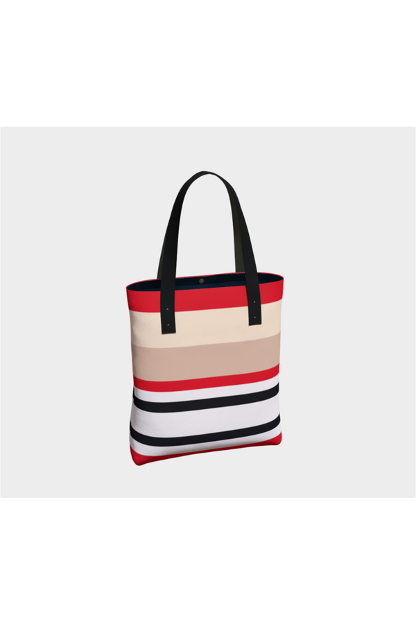Bold Stripe Tote Bag