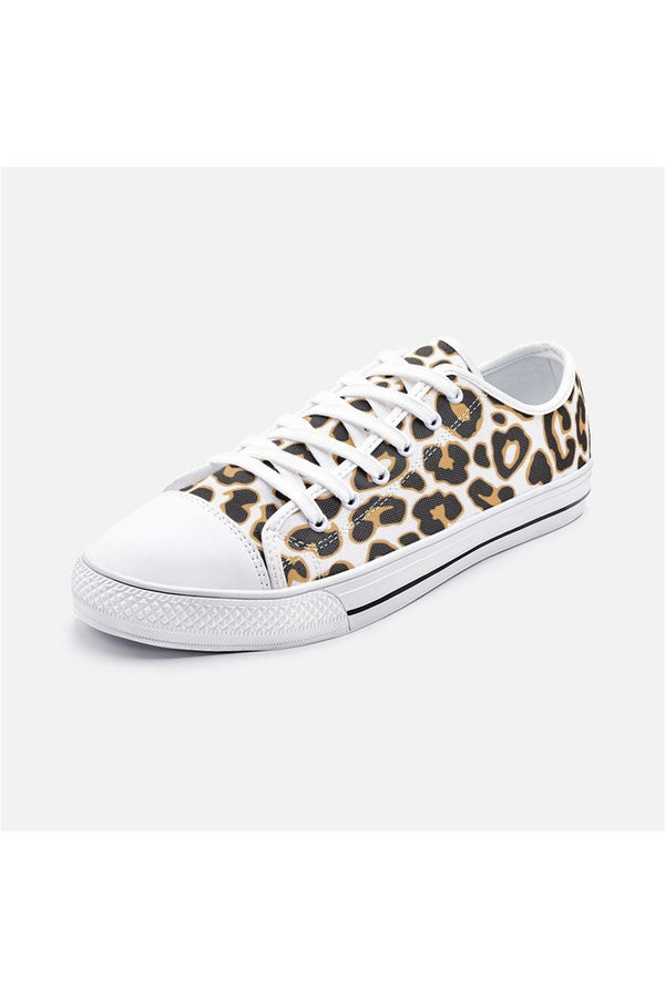 Leopard Print Unisex Low Top Canvas Shoes