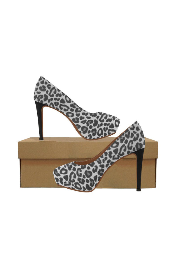 black leopard print Women's High Heels