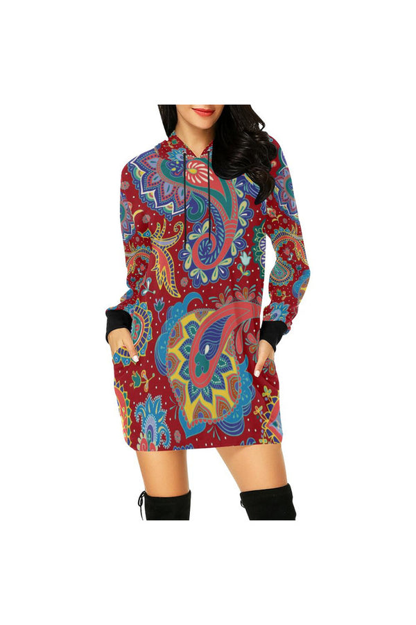 Big Pays Lee 2 All Over Print Hoodie Mini Dress (Model H27)