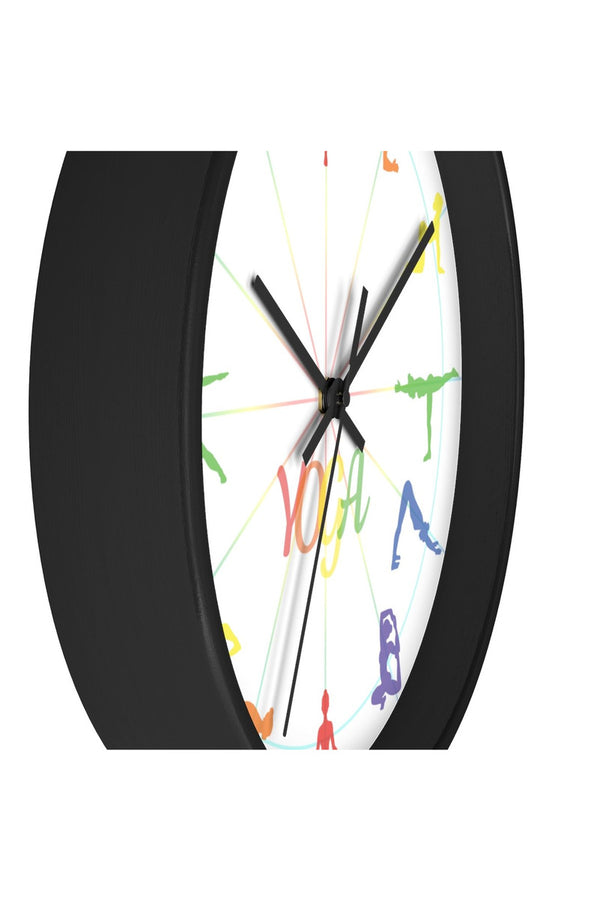 Yoga Asana Wall clock