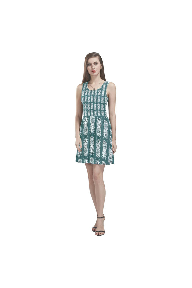 pineapple4000 Thea Sleeveless Skater Dress - Objet D'Art Online Retail Store