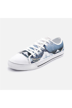 Zapatos de lona de caña baja unisex The Great Wave Off Kanagawa