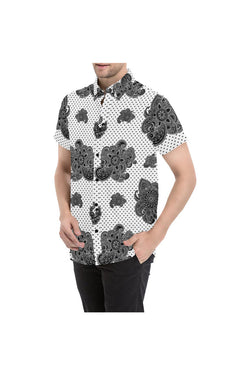 Paisley and Hearts Men's All Over Print Short Sleeve Shirt - Objet D'Art Online Retail Store