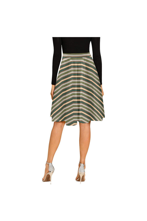 Jagged Edges Melete Pleated Midi Skirt