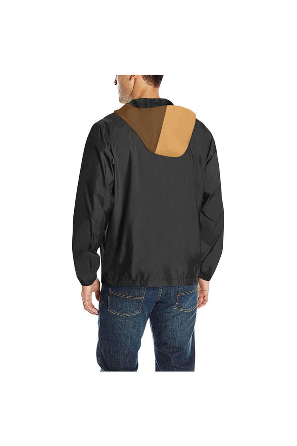 Chocolate Charm Quilted Windbreaker for Men (Model H35)