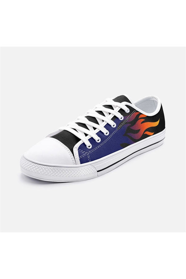 Flames Unisex Low Top Canvas Shoes