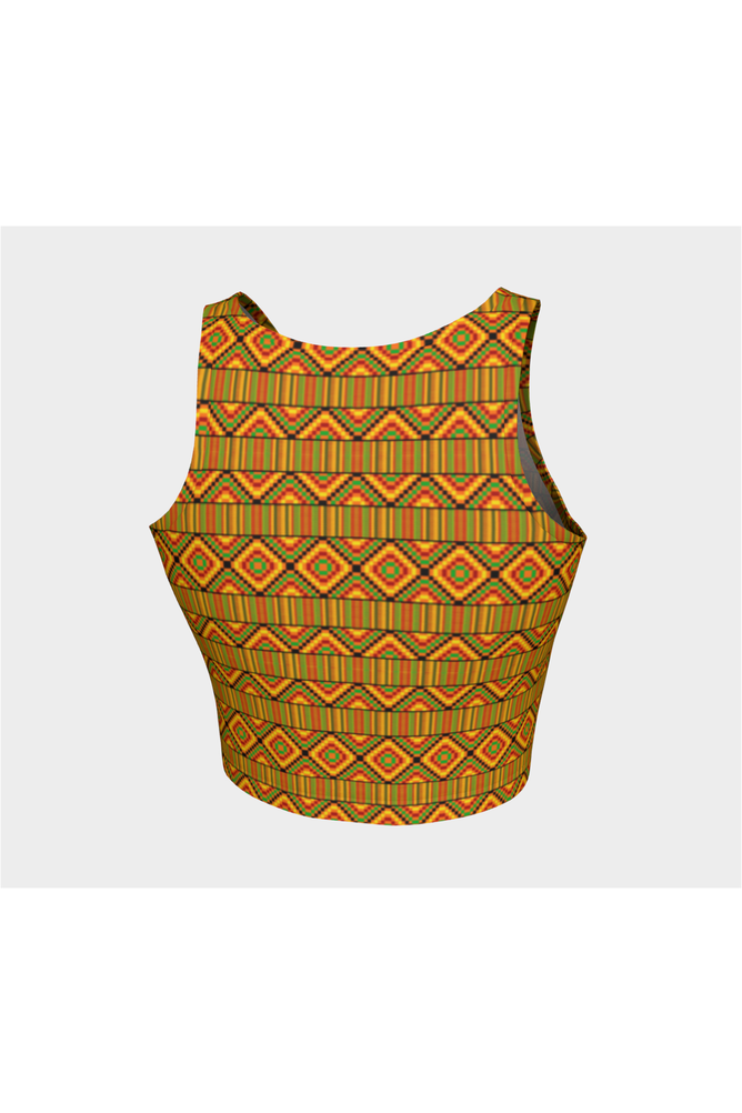 Kente Print Crop Top