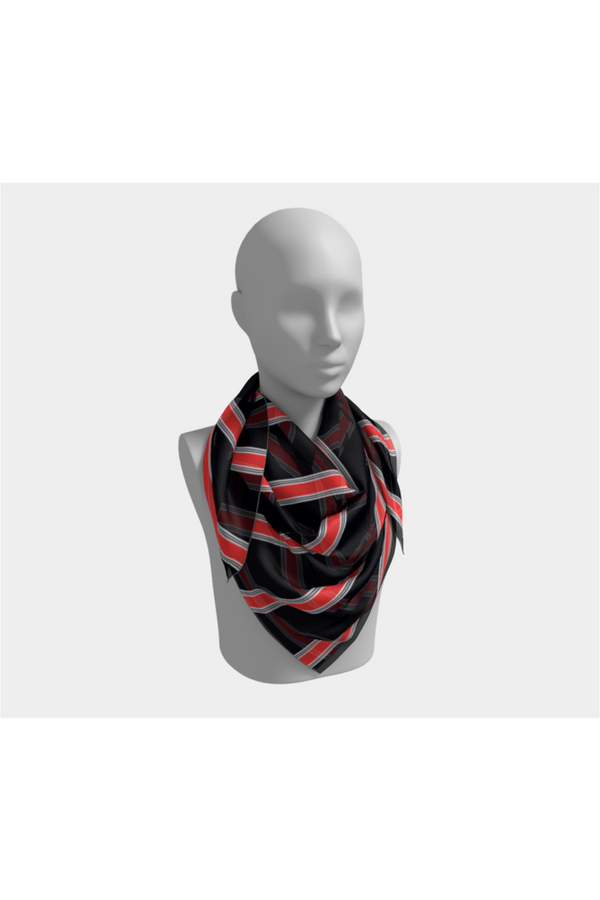 Flaming Stripes Square Scarf - Objet D'Art Online Retail Store
