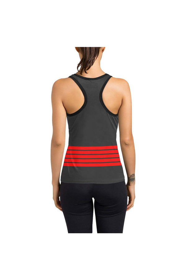 Red Stripe Women's Racerback Tank Top