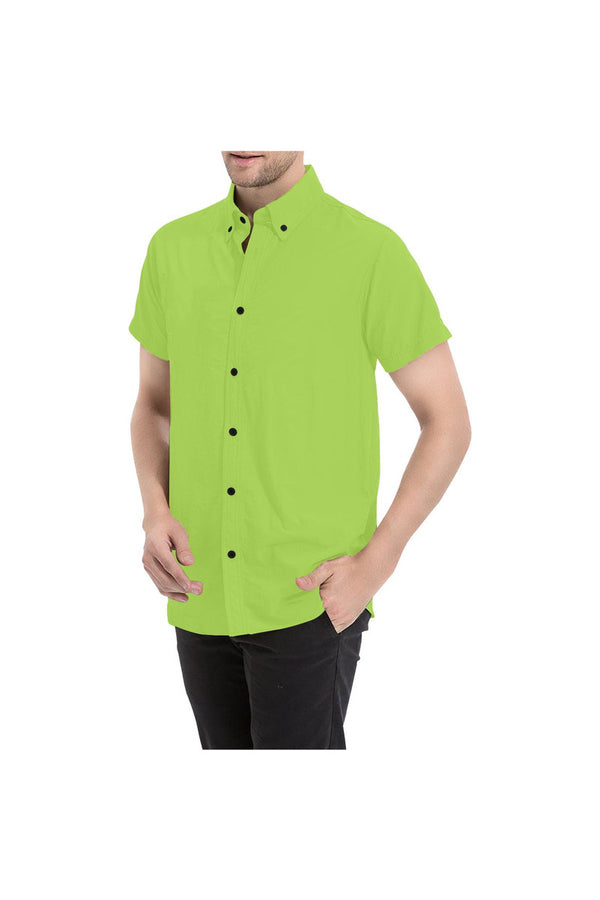 Lime Green Men's All Over Print Short Sleeve Shirt/Large Size (Model T53)
