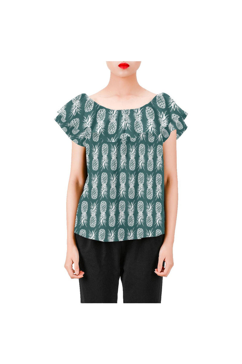Piney Appey Women's Off Shoulder Blouse with Ruffle - Objet D'Art Online Retail Store