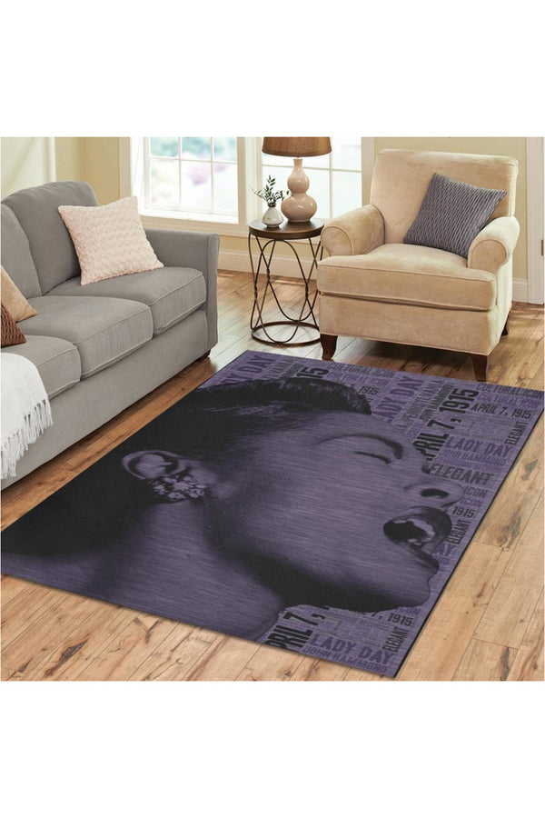 Billie Holiday Area Rug7'x5'