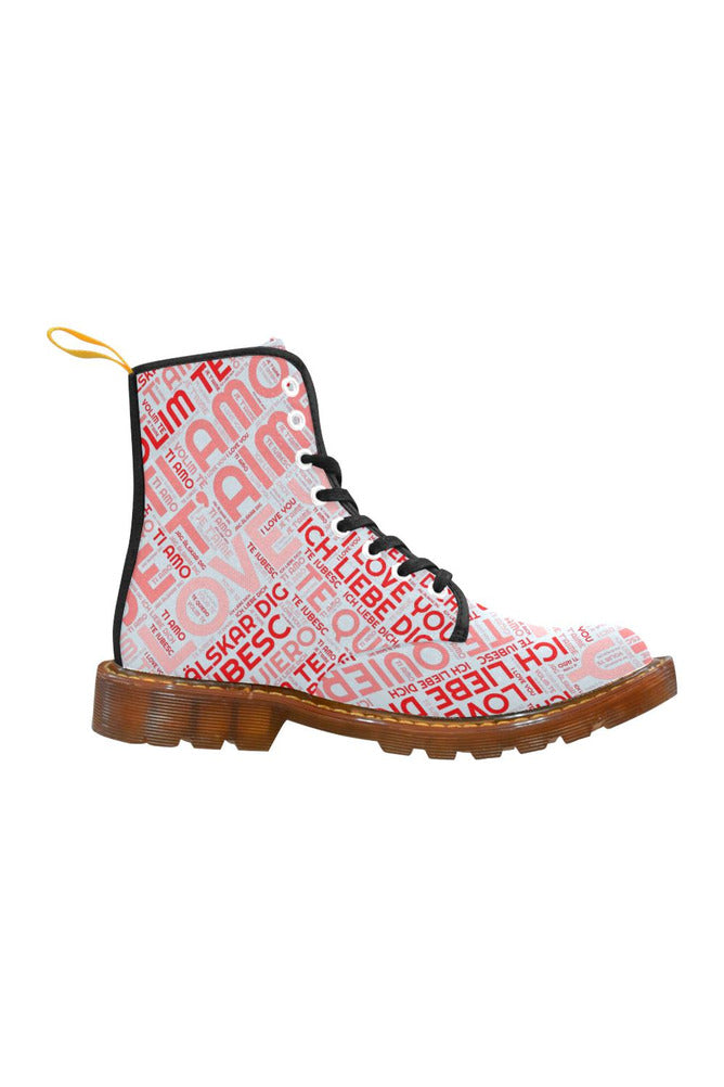 I LOVE YOU Martin Boots For Women - Objet D'Art Online Retail Store