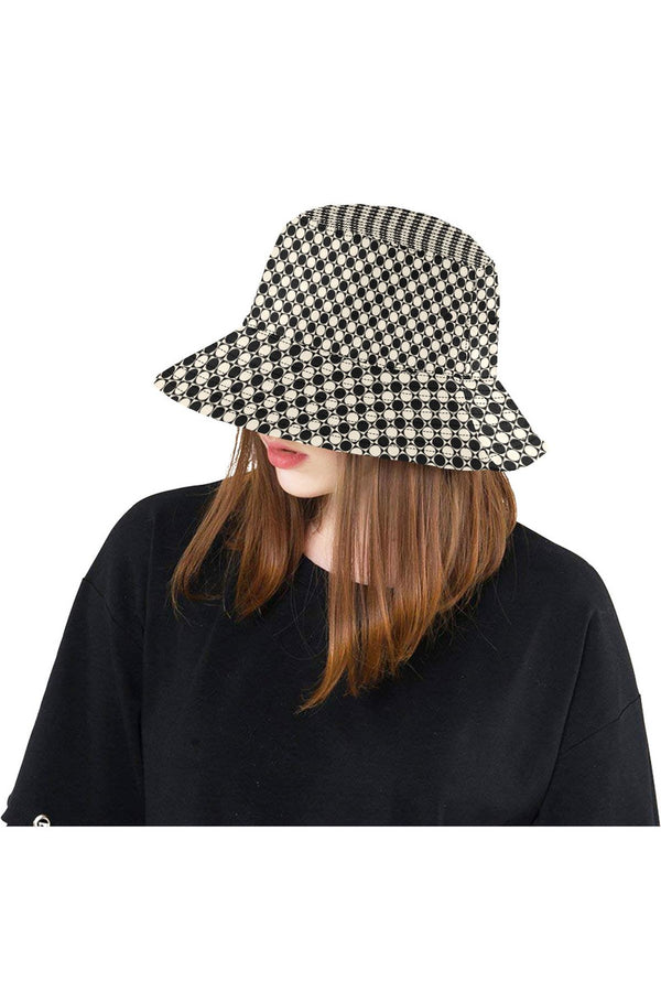 Circles in Squares All Over Print Bucket Hat