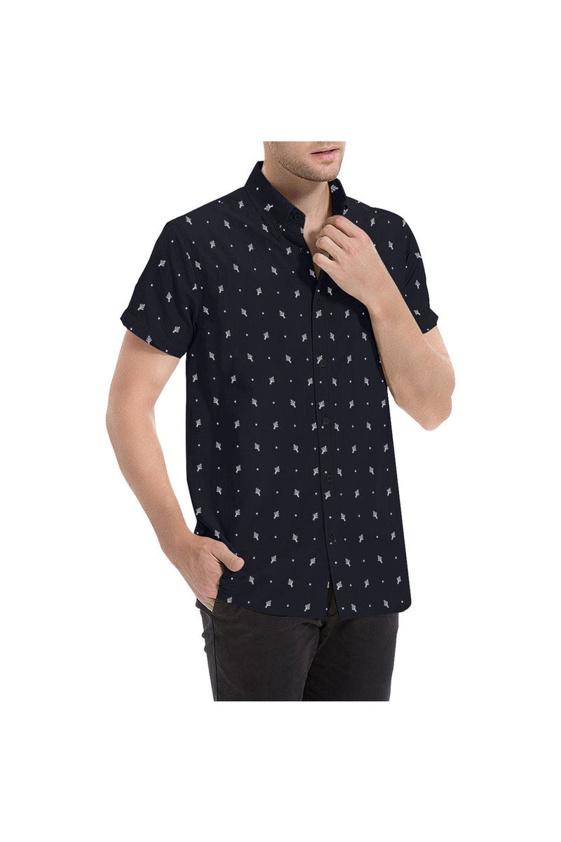 Classic Leaf Men's All Over Print Short Sleeve Shirt - Objet D'Art Online Retail Store