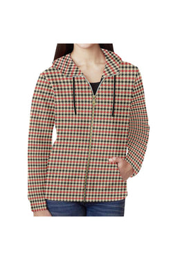 Plaid Full Zip Hoodie for Women