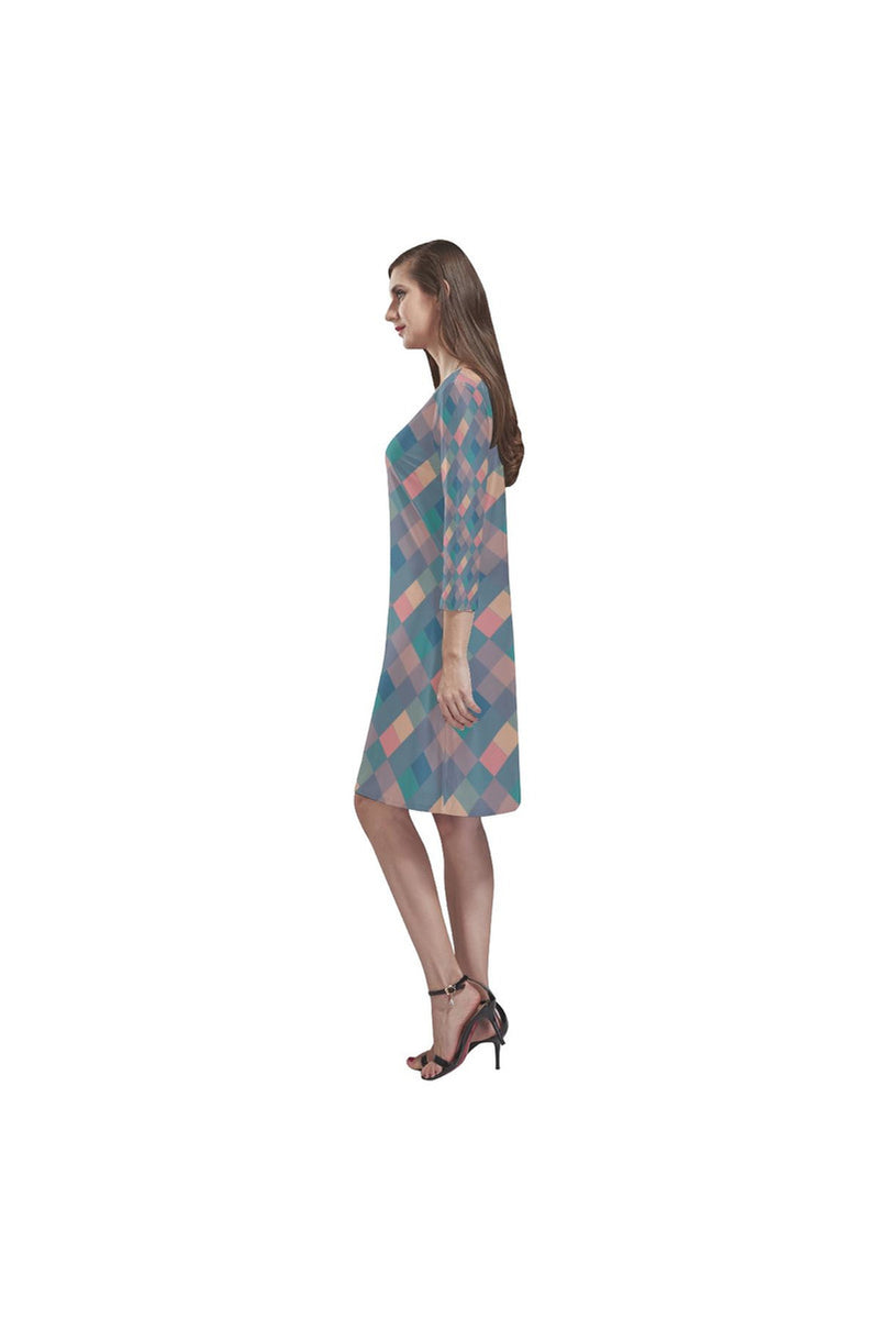 Pastel Pixels Rhea Loose Round Neck Dress - Objet D'Art Online Retail Store