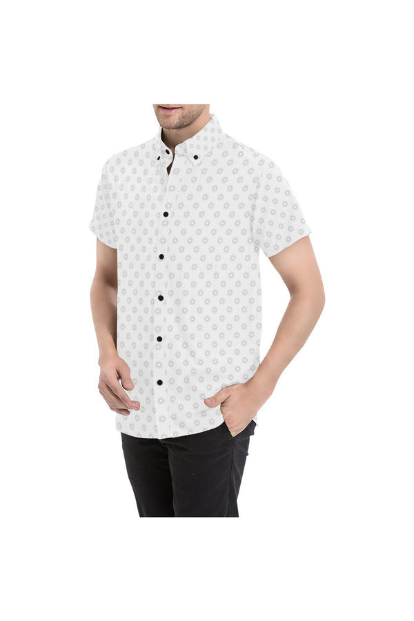 Microdot Men's All Over Print Short Sleeve Shirt - Objet D'Art Online Retail Store
