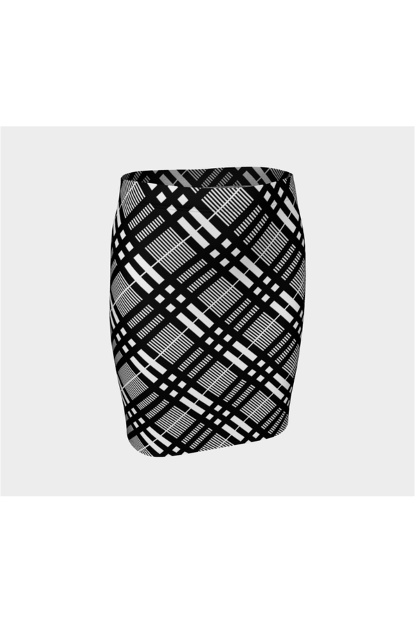 Plaid Planner Fitted Skirt