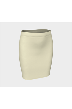 Cream Fitted Skirt