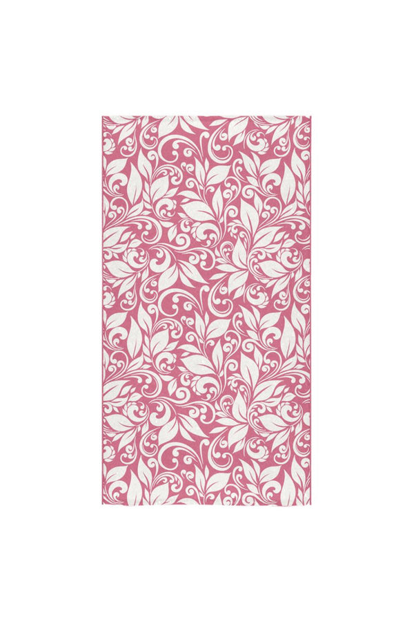 "Scroll Hand towels Pink Bath Towel 30""x56"""