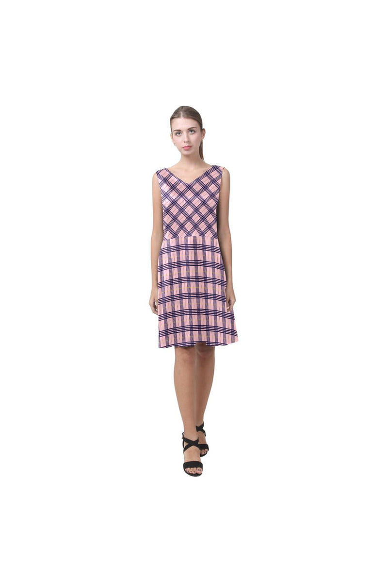 Peacefully Pink Chryseis Sleeveless Pleated Dress - Objet D'Art Online Retail Store