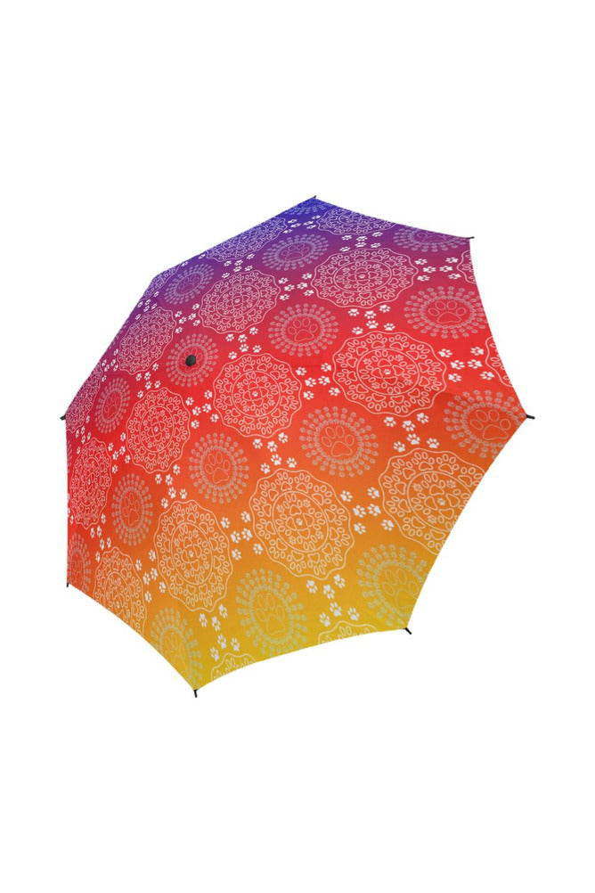 Paw Print Mandala Semi-Automatic Foldable Umbrella - Objet D'Art Online Retail Store