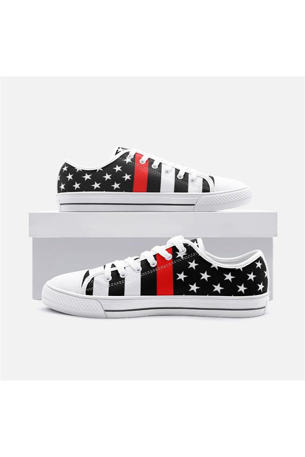Thin Red Line Unisex Low Top Canvas Shoes