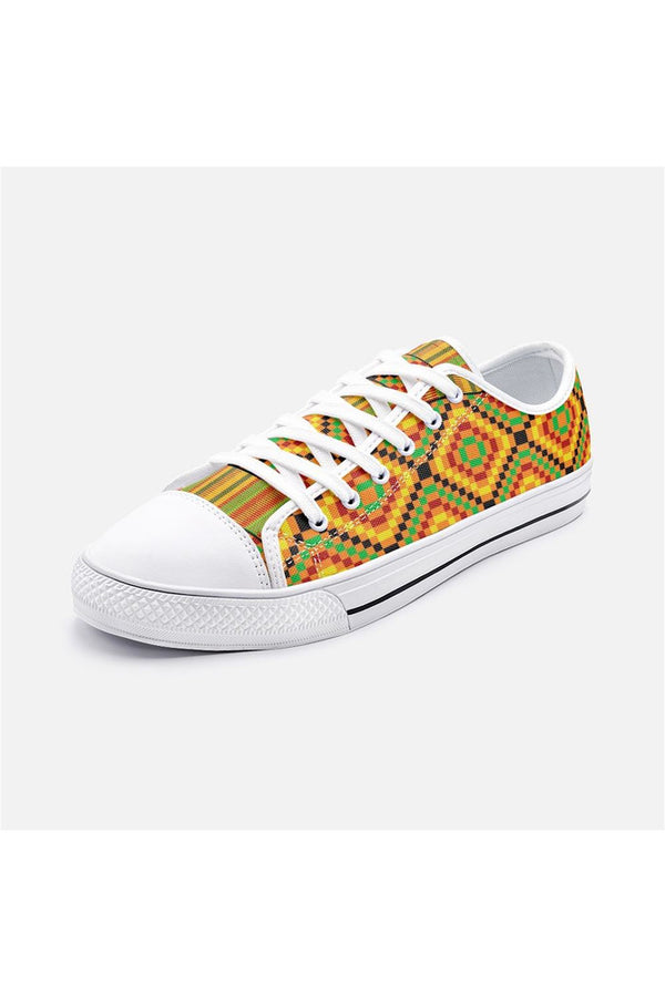Kente Print Unisex Low Top Canvas Shoes
