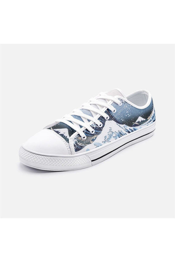 Hokusai's Great Wave Off Kanagawa Unisex Low Top Canvas Shoes