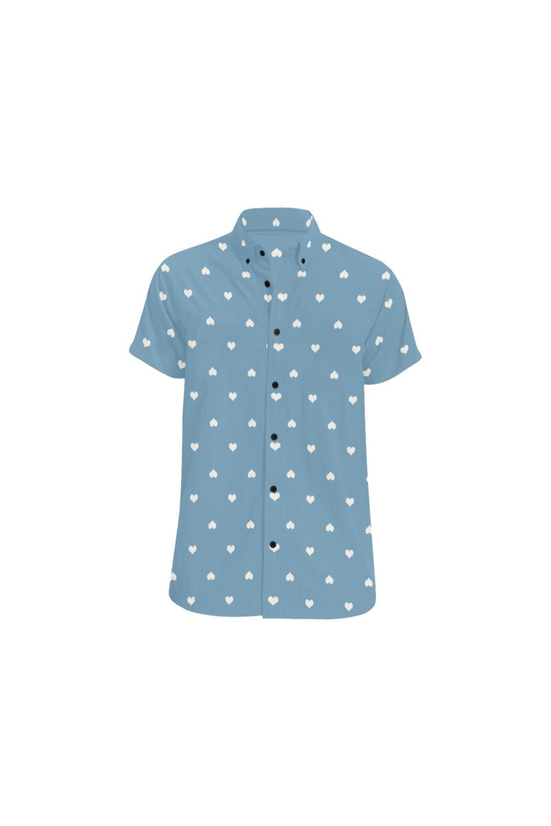 Hearts Men's All Over Print Short Sleeve Shirt - Objet D'Art Online Retail Store