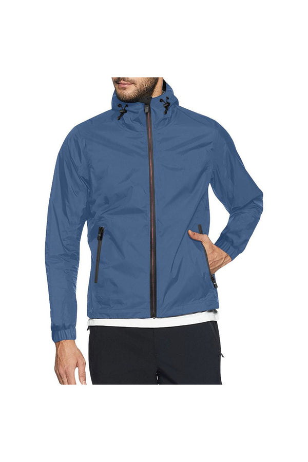 Galaxy Blue All Over Print Windbreaker for Men (Model H23)