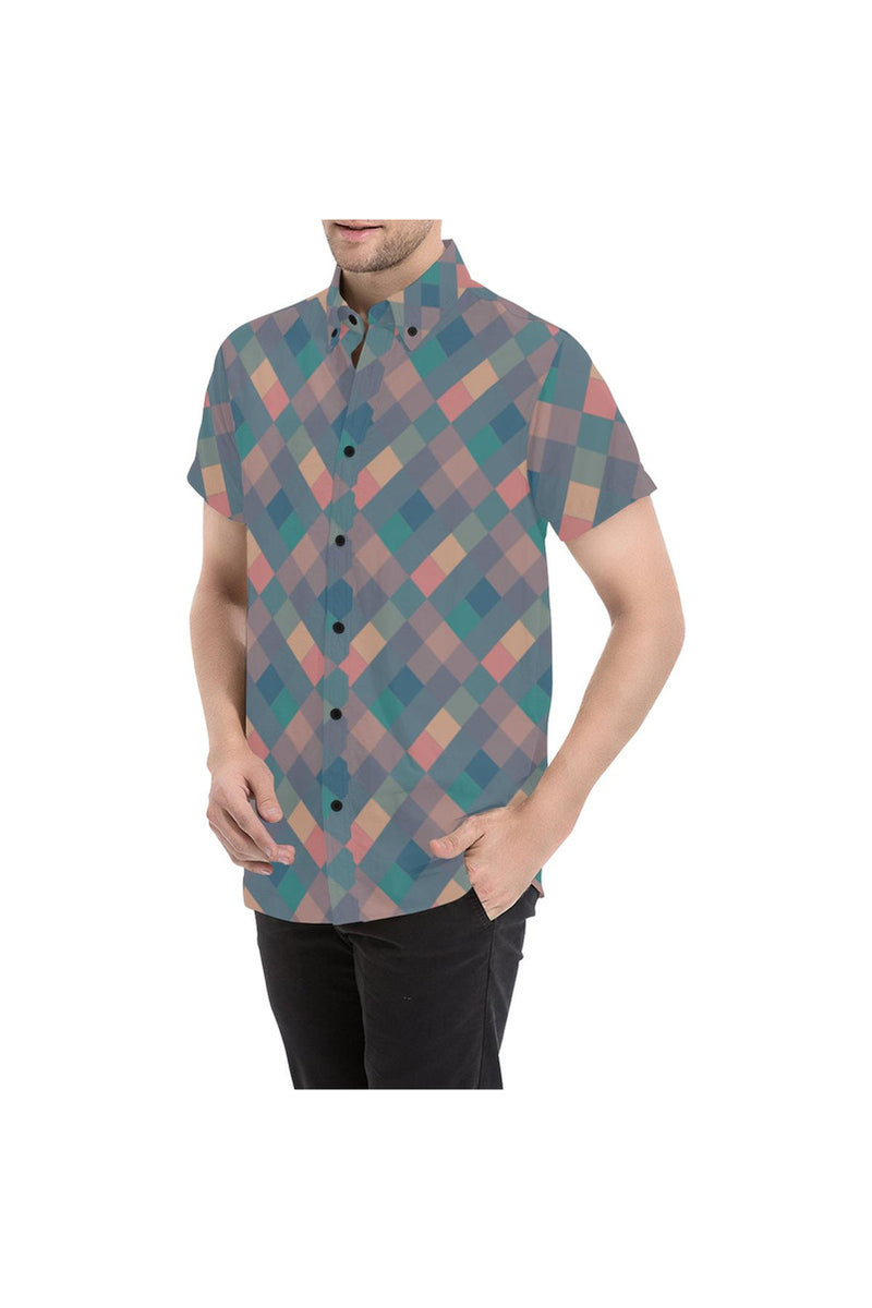 Harlequin Men's All Over Print Short Sleeve Shirt - Objet D'Art Online Retail Store