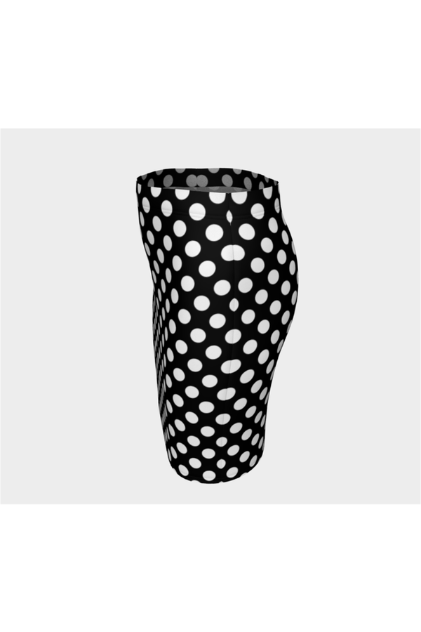 Black & White Polkadot Fitted Skirt