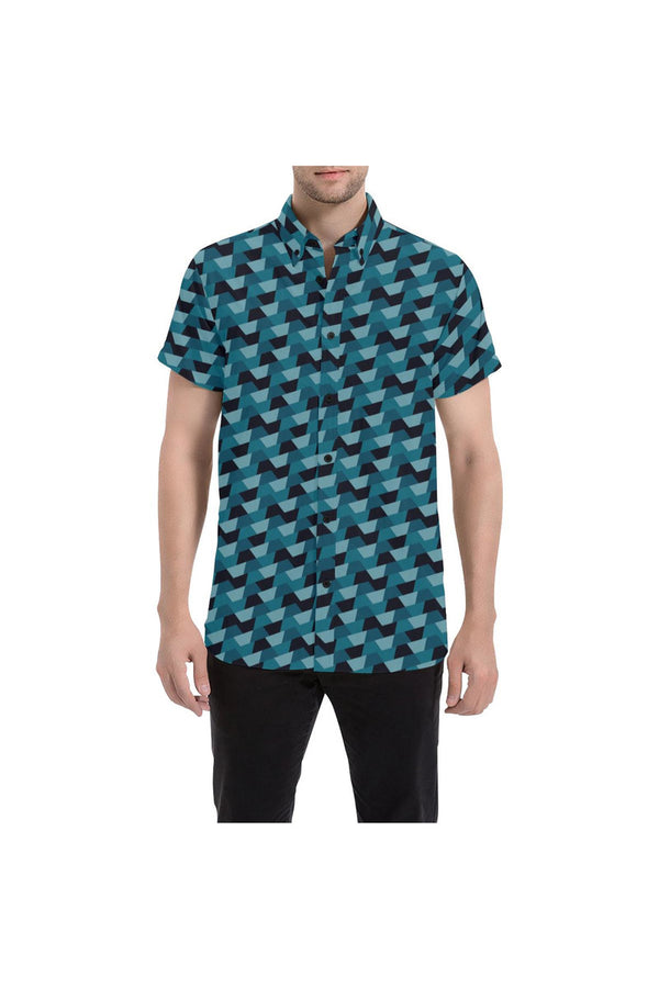 Abstract Camo Men's All Over Print Short Sleeve Shirt - Objet D'Art Online Retail Store
