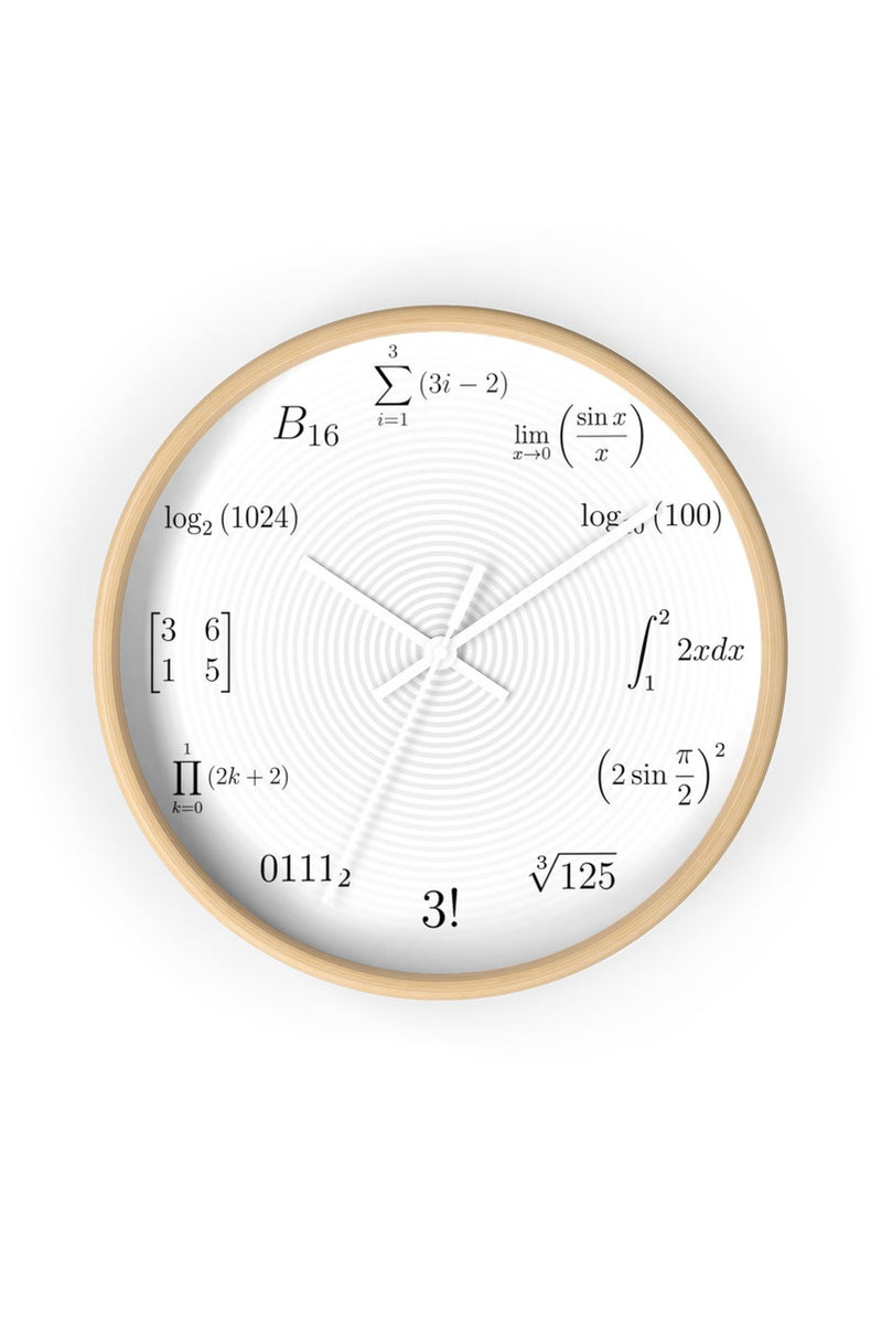 Math Equations and Notations Large Clock - Objet D'Art Online Retail Store