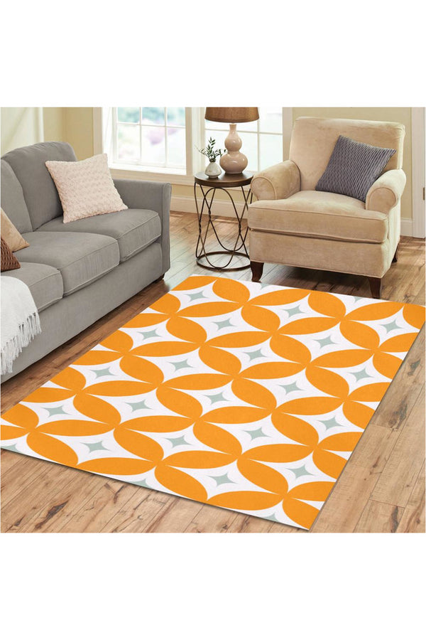 Orange Rinds Area Rug7'x5'