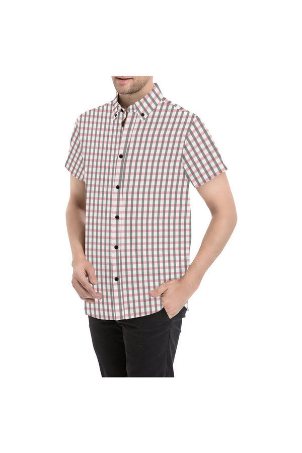 Pleasantly Plaid Men's All Over Print Short Sleeve Shirt