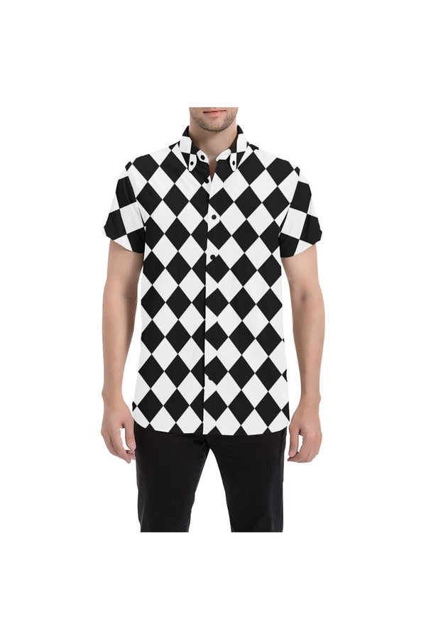 Harlequin Happyness Men's All Over Print Short Sleeve Shirt/Large Size - Objet D'Art Online Retail Store