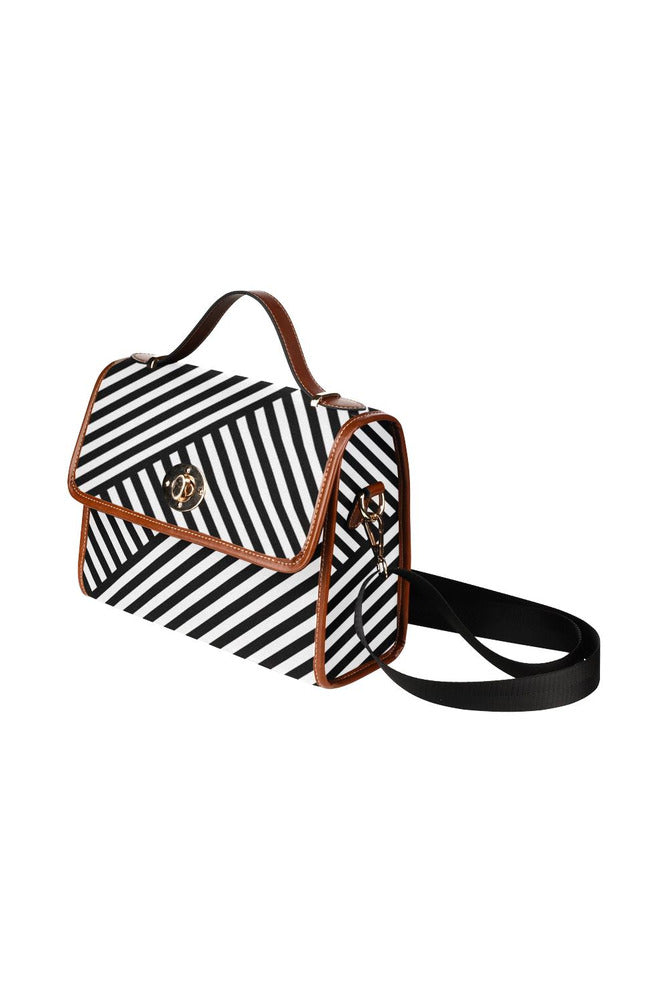Stripes on the Bias Waterproof Canvas Bag/All Over Print