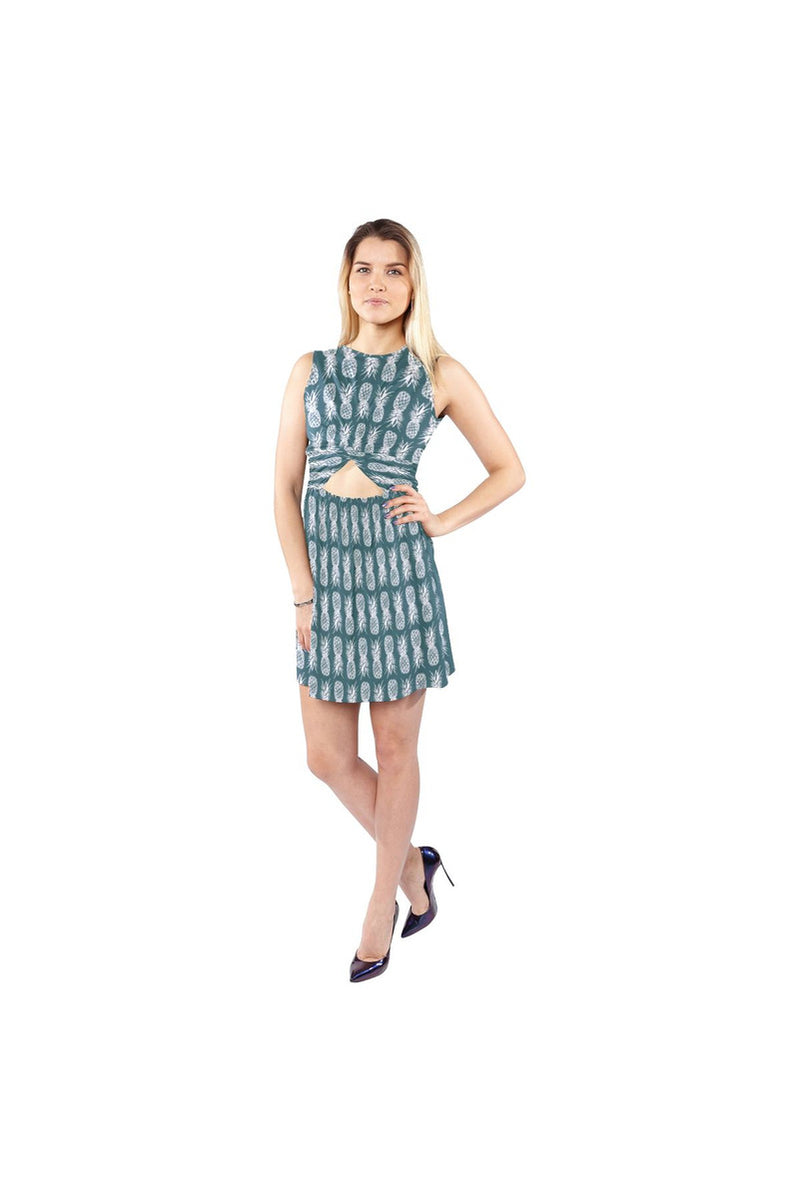 Piney Appey Sleeveless Cutout Waist Knotted Dress - Objet D'Art Online Retail Store