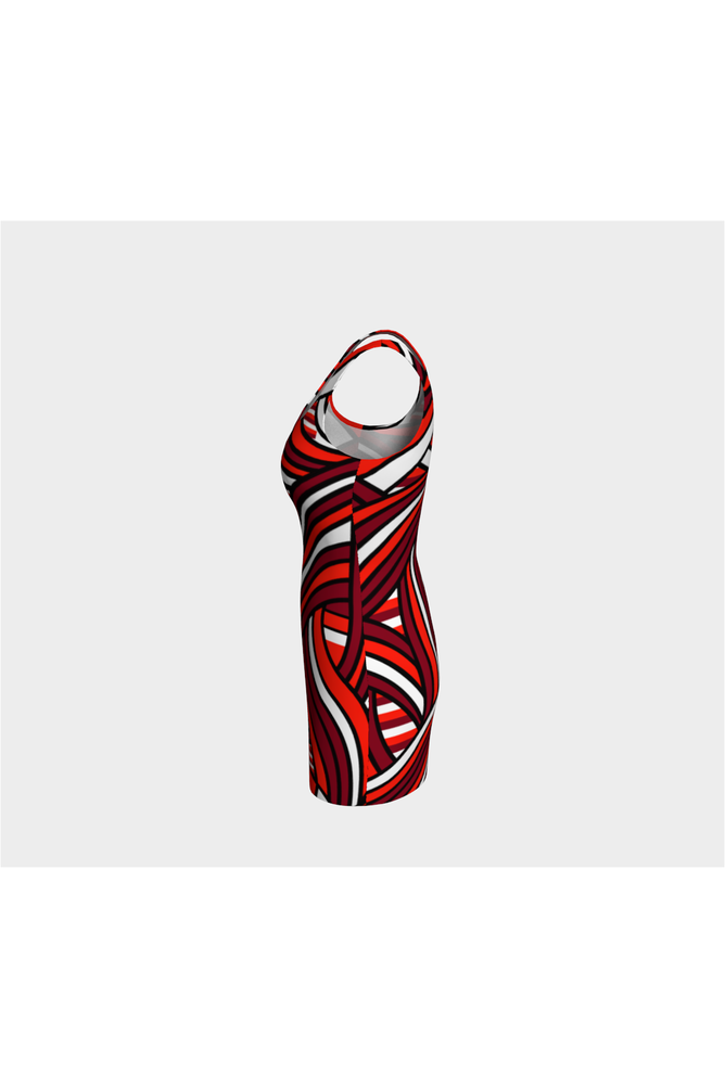 Abstract Strands Bodycon Dress